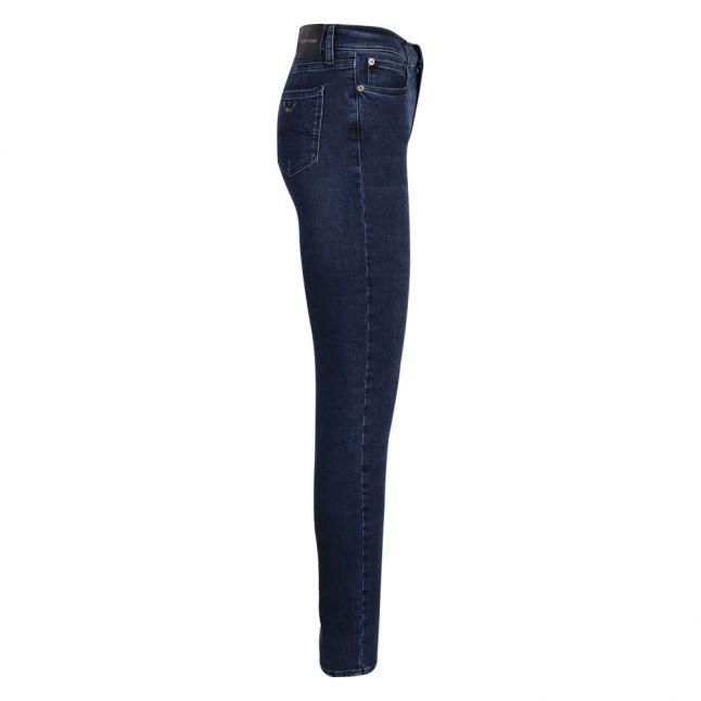 Womens Dark Blue J20 Mid Rise Skinny Jeans