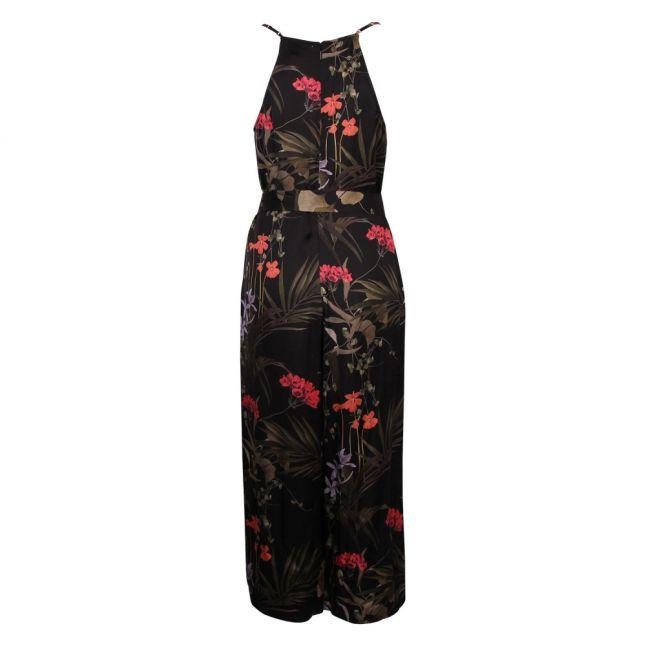 Womens Black Calline Highland Frill Jumpsuit