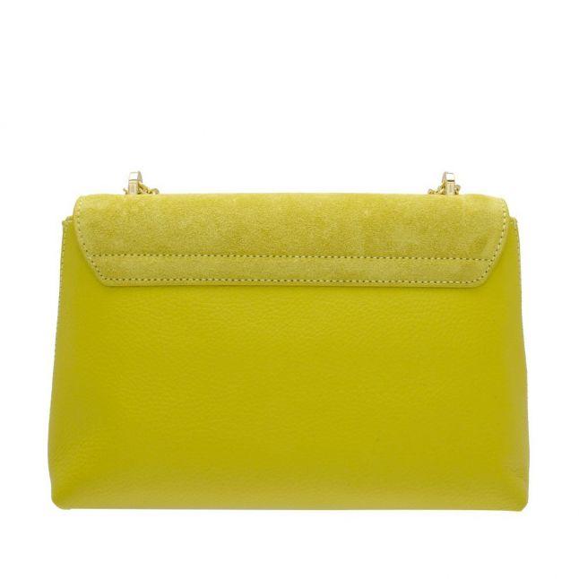 Womens Bright Yellow Naomina Twist Lock Crossbody Bag
