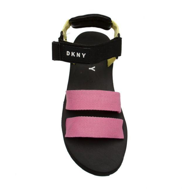 Girls Black/Pink Colour Flatform Sandals (30-37)