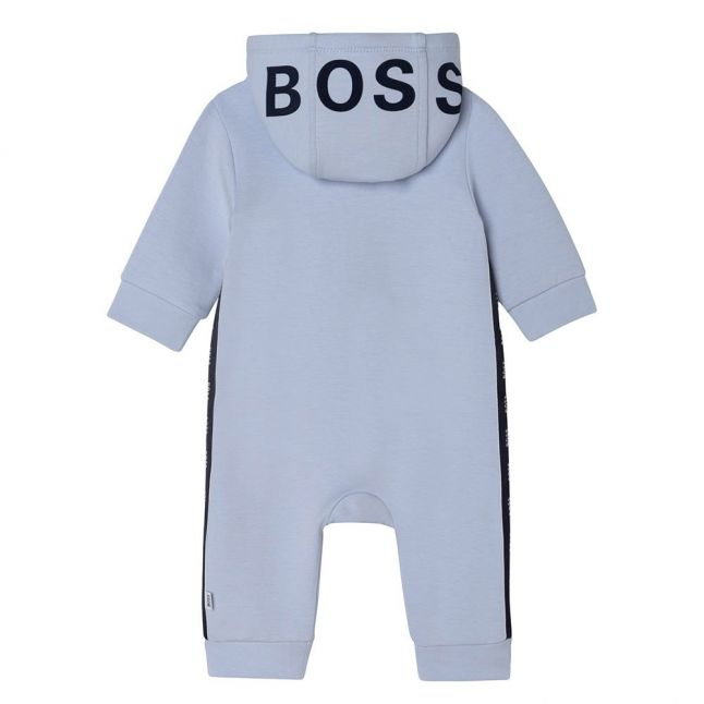 Baby Pale Blue Soft Hooded All In One