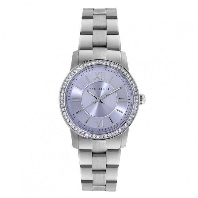 Womens Lilac Dial Silver Bracelet Strap Watch