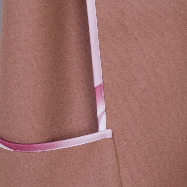 Womens Camel Leisl Chain Detail Cape
