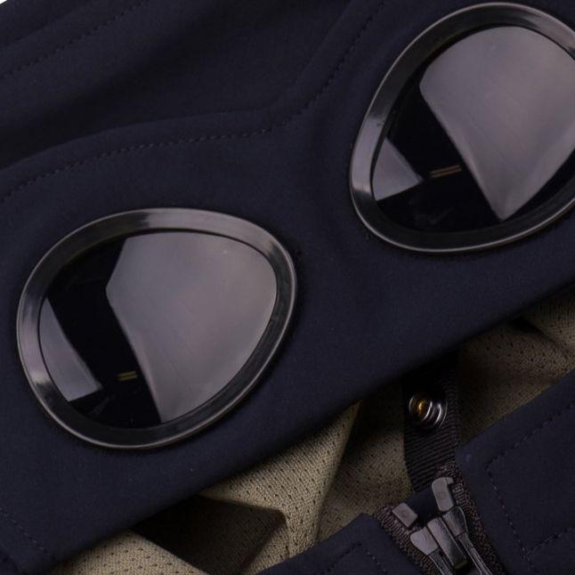 Boys Navy Goggle Hood Jacket