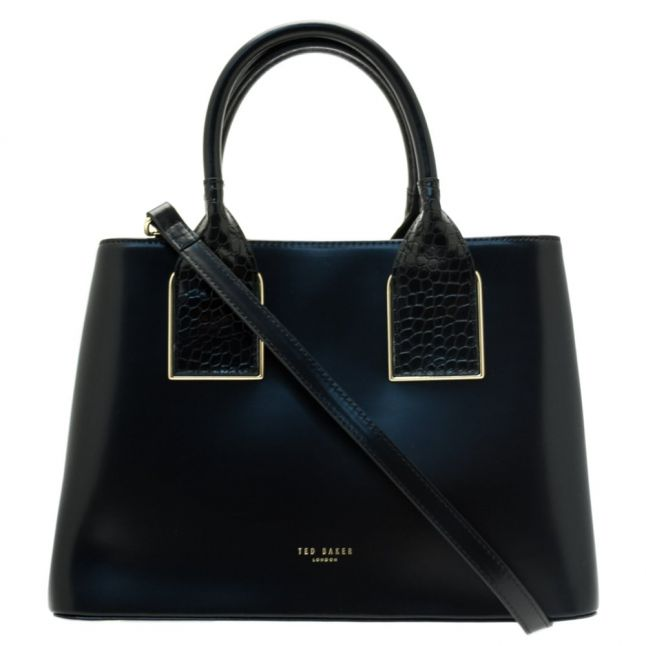 Womens Black Lolita Exotic Trim Tote Bag