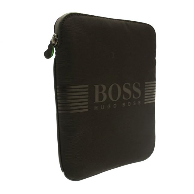 Mens Black Pixel Zip Crossbody Bag