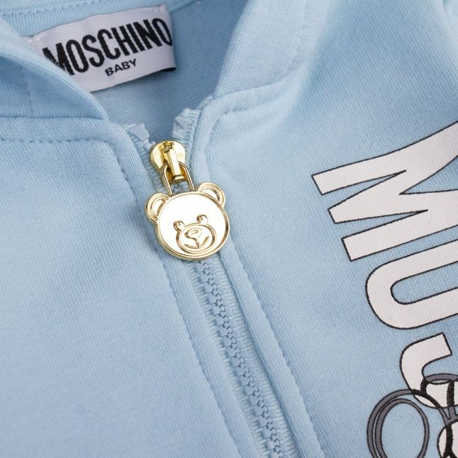 Baby Sky Blue Silver Toy Tracksuit