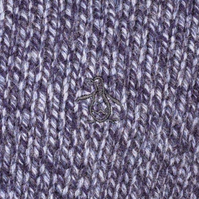Mens Dark Sapphire Twisted Yarn Crew Knitted Jumper