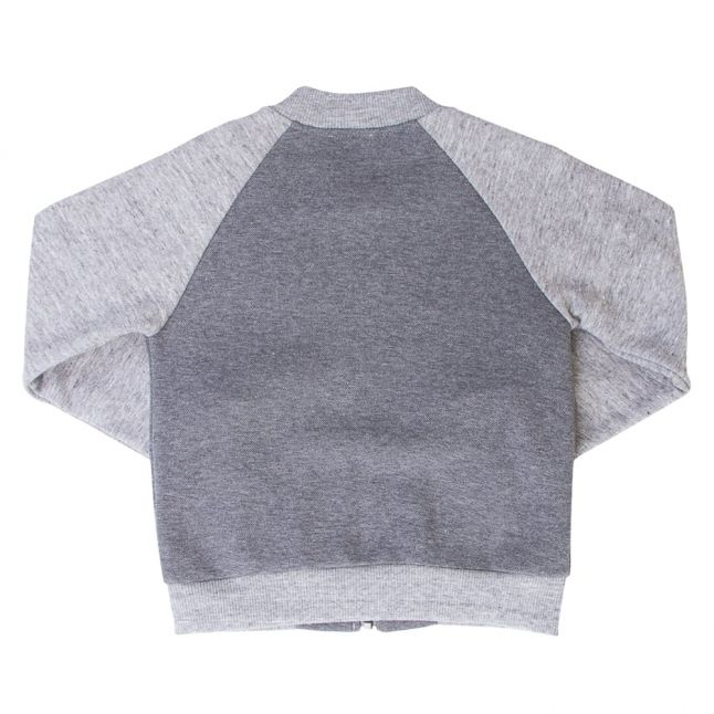 Boys Dark Grey Marl Norwich Zip Sweat Top