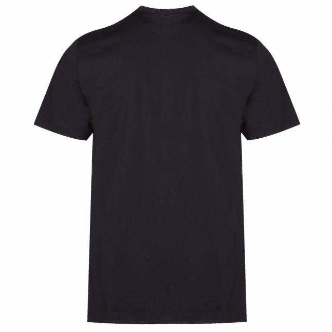 Mens Black/Gold Metallic Logo S/s T Shirt