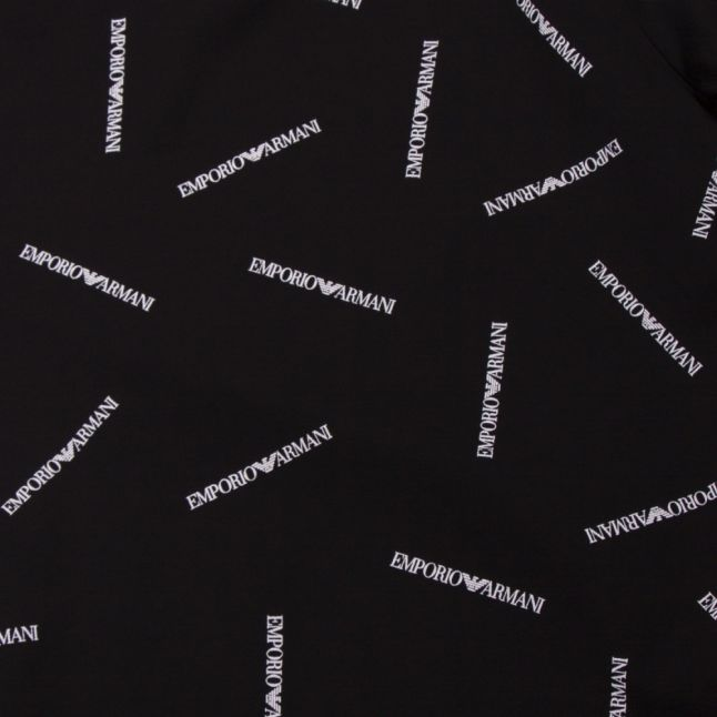 Mens Black Logo Print S/s T Shirt