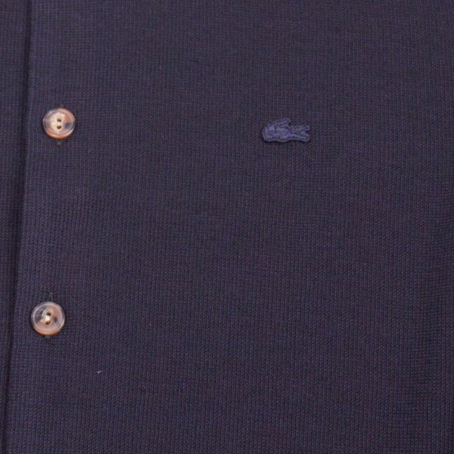 Mens Navy Branded Knitted Overshirt