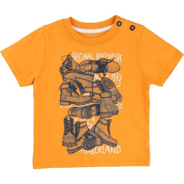 Boys Light Mango Boot Print S/s Tee Shirt
