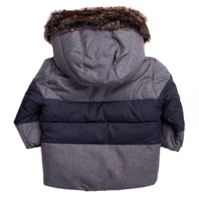 Baby Grey Fur Lined Hooded Jacket