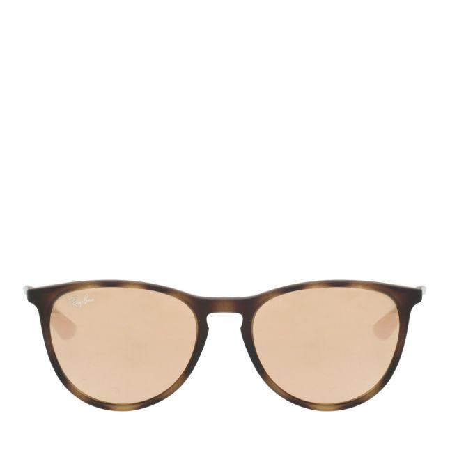 Junior Havana & Pink Mirror RJ9060S Erika Rubber Sunglasses