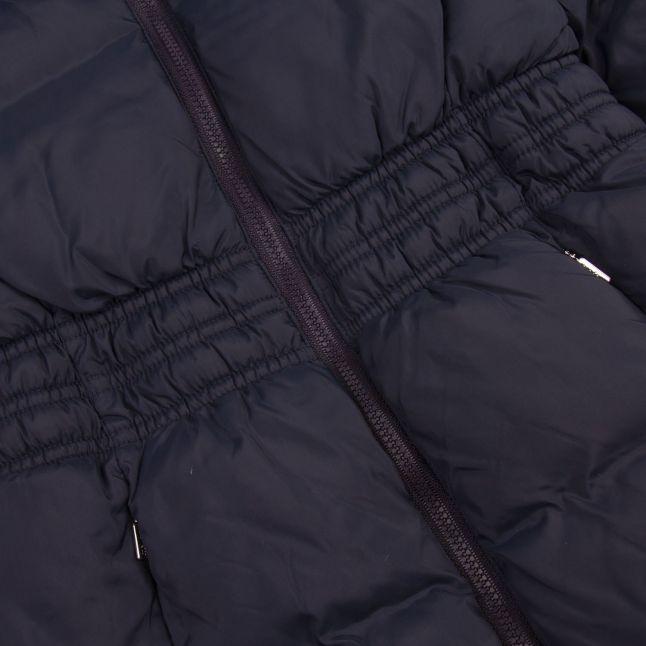 Girls Navy Basic Quilted School Coat