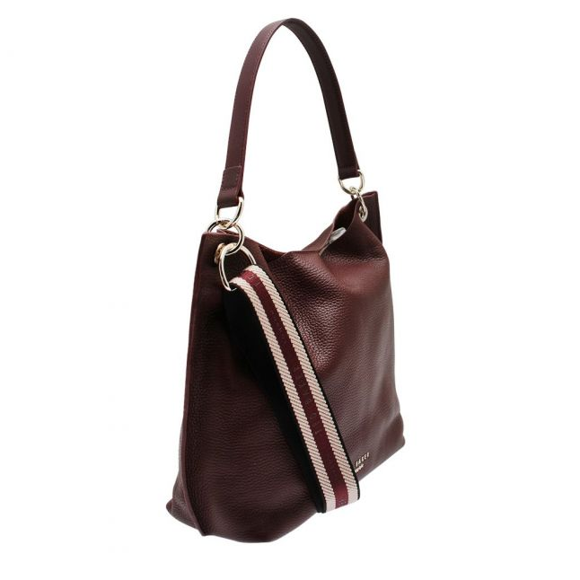 Womens Deep Purple Amada Webbing Strap Hobo Bag