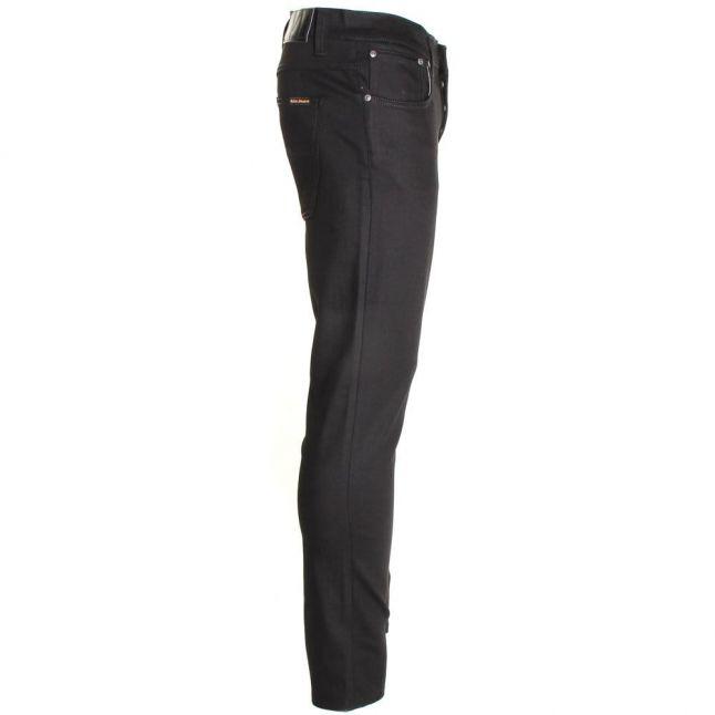 Mens Black Ring Wash Grim Tim Slim Fit Jeans