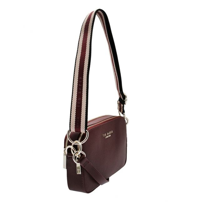 Womens Deep Purple Amerrah Webbing Strap Crossbody Bag
