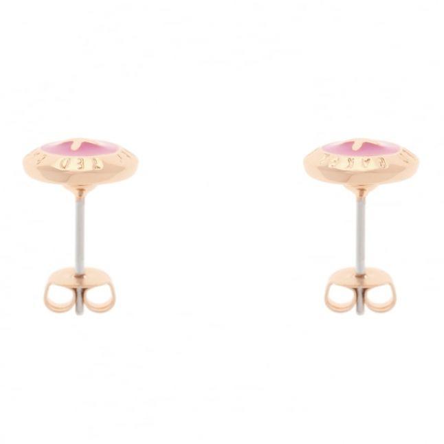 Womens Rose Gold & Mid Pink Eisley Earrings Studs