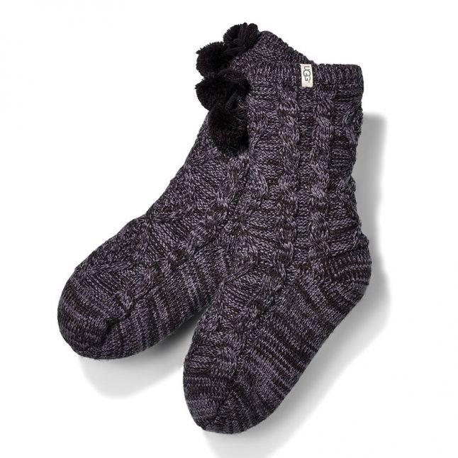 Womens Nightfall Pom Pom Fleece Lined Socks
