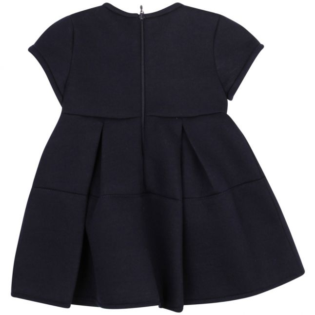 Infant Navy Bow Pleated Dress