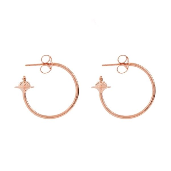 Womens Rose Gold Rosemary Small Earrings