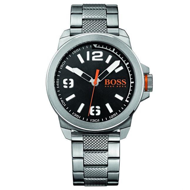 Watches Mens Black Dial New York Bracelet Strap Watch
