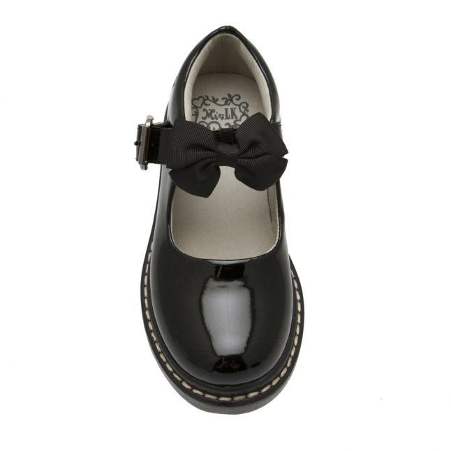 Girls Black Patent Audrey Bow Shoes (26-38)