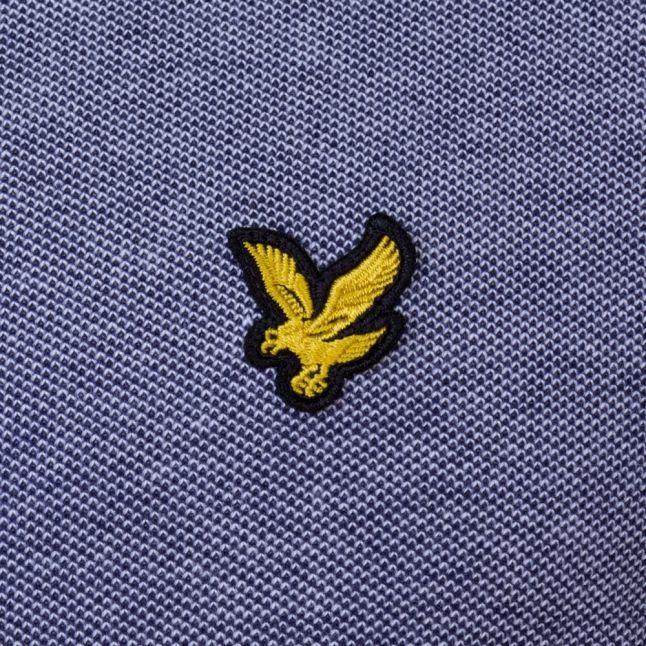 Mens Navy Oxford S/s Polo Shirt