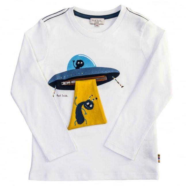 Boys White Mint L/s Tee Shirt