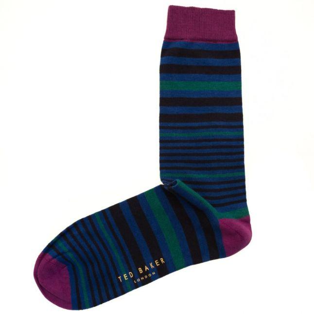 Mens Blue Lemut Socks