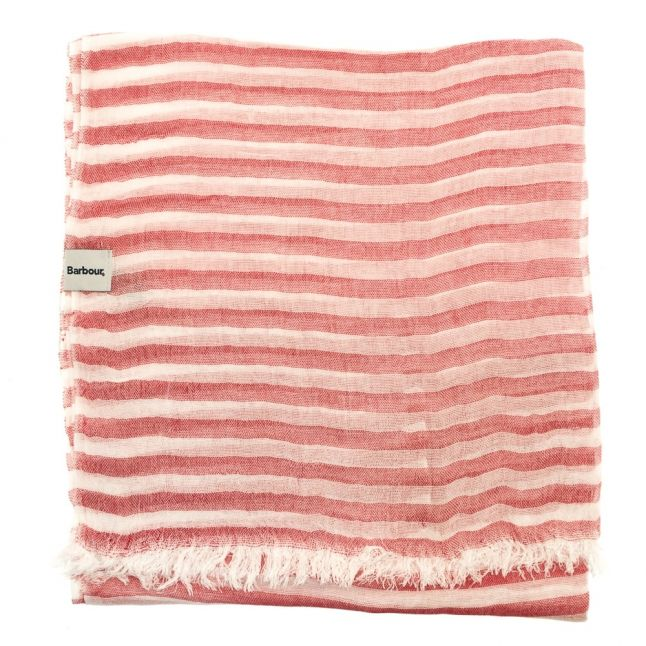 Womens Red & White Waterside Scarf
