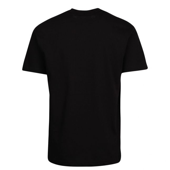 Mens Black Large Foil Logo Regular Fit S/s T Shirt
