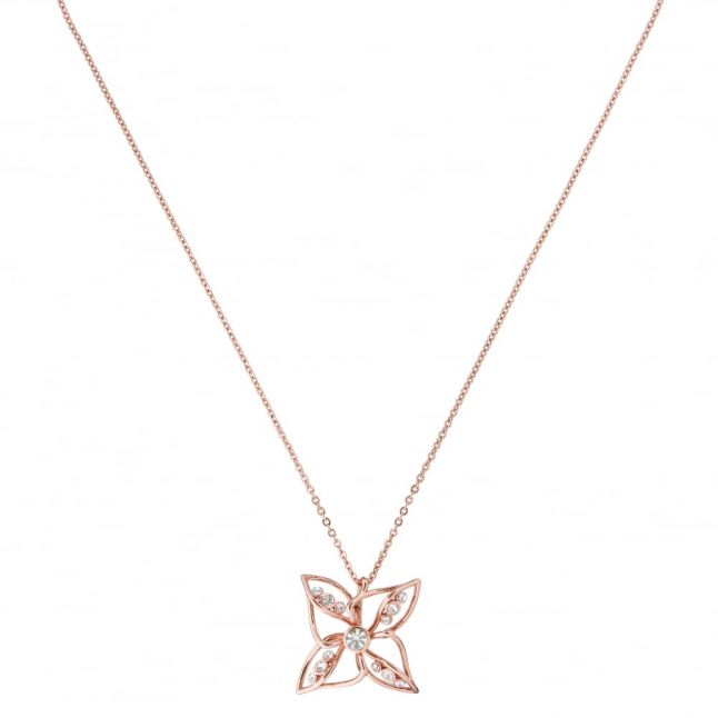 Womens Rose Gold & Crystal Chelo Necklace