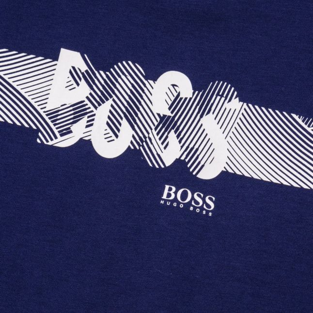 Boys Blue Graphic Logo S/s Tee Shirt