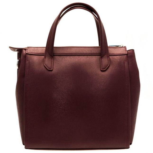 Womens Bordeaux Metallic Effect Tote Bag