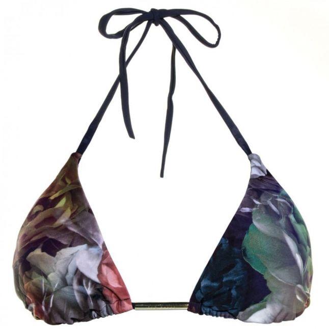 Womens Black Besay Shadow Floral Bikini Top