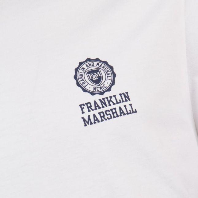 Mens White Small Logo S/s Tee Shirt