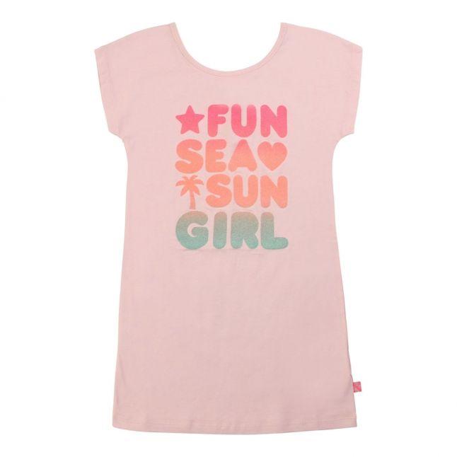 Girls Rose Flamingo Cone T Shirt Dress