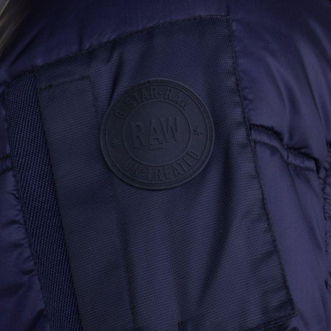 Mens Dark Saru Blue Whistler Hooded Bomber Jacket