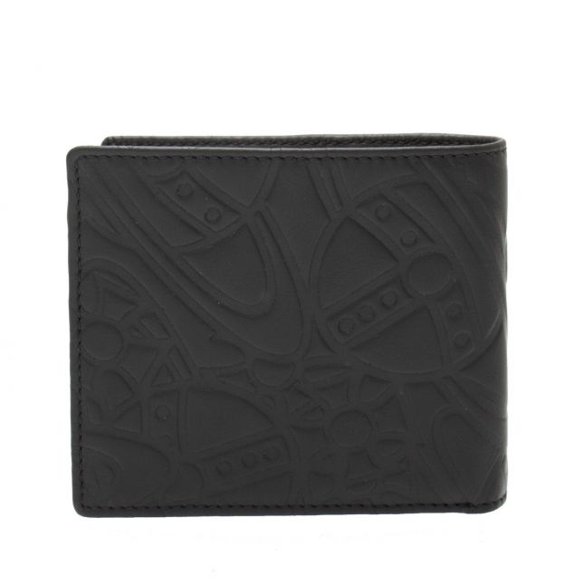 Mens Black Belfast Embossed Bifold Card Wallet