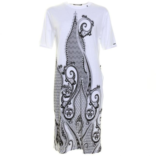 Womens Optical White Paisley Maxi Tee Shirt