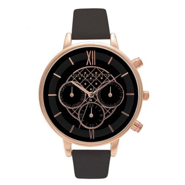 Black Dial & Rose Gold Chrono Big Dial Watch