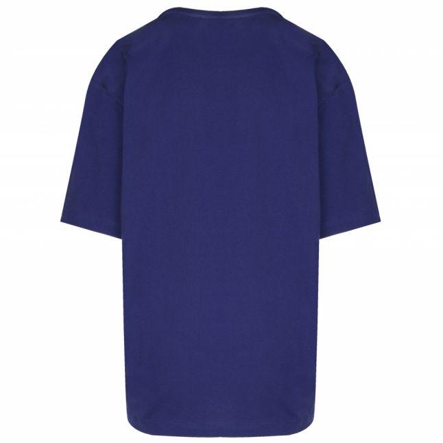 Womens Electric Blue Metallic Varsity S/s T Shirt