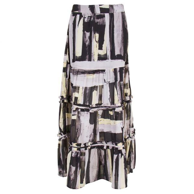 Womens Yellow & Quicksilver Blossom Maxi Skirt
