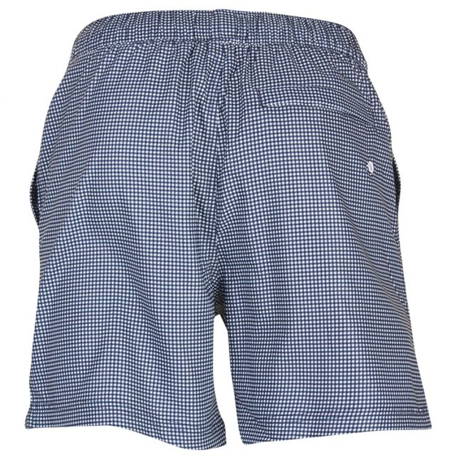 Mens Dark Sapphire Gingham Swim Shorts