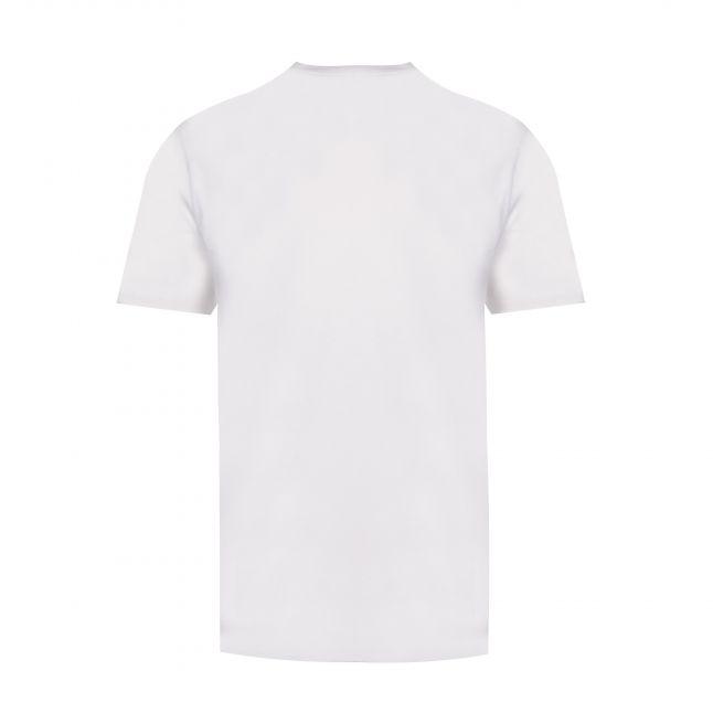 Mens Bright White Text Reversed Logo S/s T Shirt