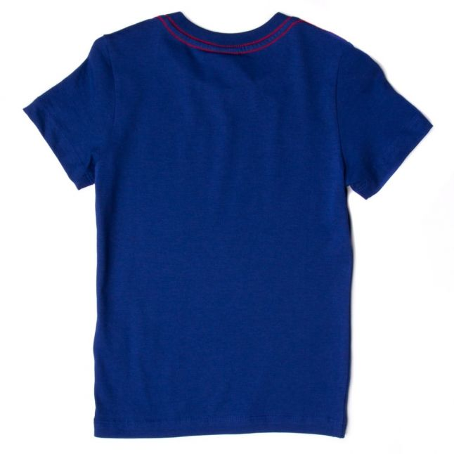 Boys Twilight Blue Branded S/s Tee Shirt