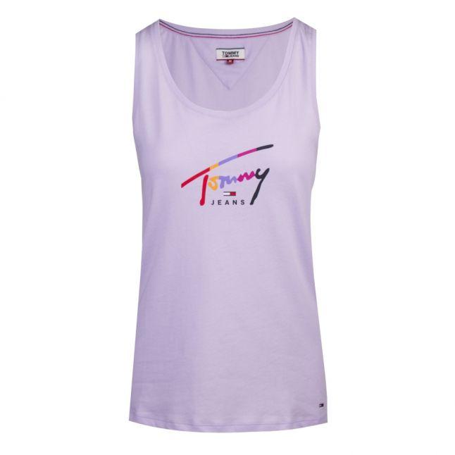 Womens Pastel Lilac Script Logo Vest Top